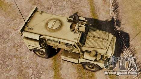 Cougar MRAP 4X4 para GTA 4 visión correcta