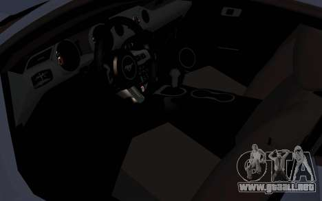 Ford Mustang GT 2015 para GTA San Andreas vista hacia atrás