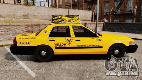 Ford Crown Victoria 1999 SF Yellow Cab para GTA 4 left