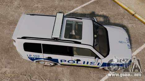 Mitsubishi Pajero Finnish Police [ELS] para GTA 4 visión correcta