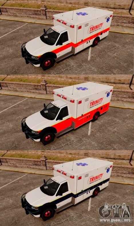 Landstalker L-350 Trinity EMS Ambulance [ELS] para GTA 4 vista hacia atrás