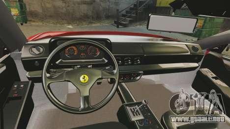 Ferrari Testarossa 1986 v1.1 para GTA 4 vista hacia atrás