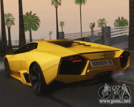 Lamborghini Reventon 2008 SLOD para GTA San Andreas left
