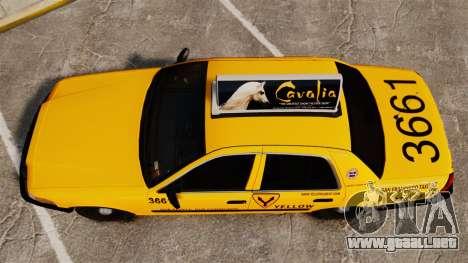 Ford Crown Victoria 1999 SF Yellow Cab para GTA 4 visión correcta
