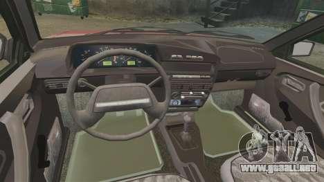 Vaz-2109 para GTA 4 vista interior