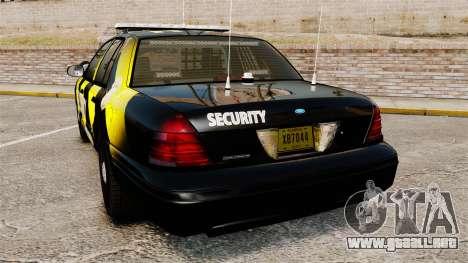 Ford Crown Victoria 2008 Security Patrol [ELS] para GTA 4 Vista posterior izquierda