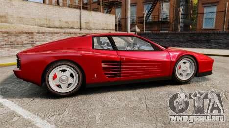 Ferrari Testarossa 1986 v1.1 para GTA 4 left