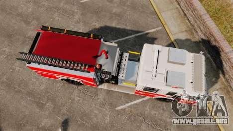 Firetruck Woonsocket [ELS] para GTA 4 visión correcta