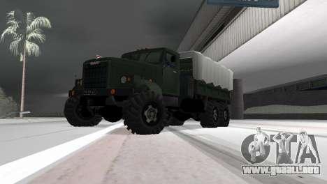 KrAZ 257 para GTA Vice City vista lateral izquierdo