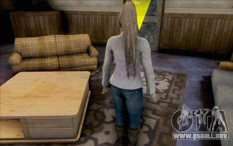 Sarah de Dead or Alive 5 para GTA San Andreas tercera pantalla