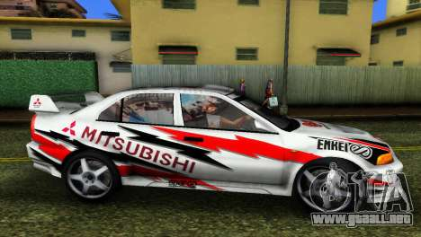 Mitsubishi Lancer Rally para GTA Vice City vista lateral izquierdo