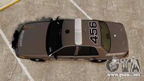 Ford Crown Victoria 2008 Sheriff Patrol [ELS] para GTA 4 visión correcta