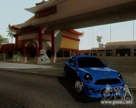 MINI Cooper S 2012 para GTA San Andreas left