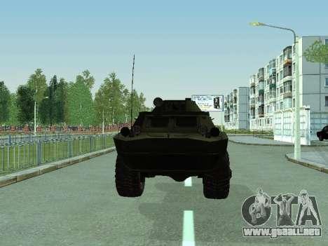 BRDM 2 para GTA San Andreas vista posterior izquierda