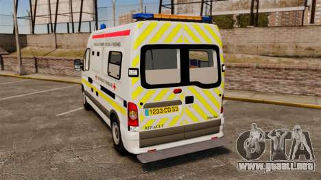 Renault Master French Red Cross [ELS] para GTA 4 Vista posterior izquierda