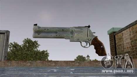 Revólver-Blue Rose- para GTA 4 tercera pantalla