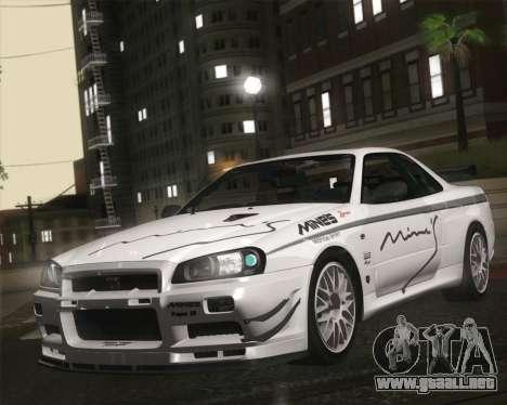 Nissan Skyline Mines R34 2002 para GTA San Andreas