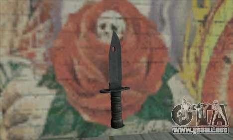 Knife para GTA San Andreas segunda pantalla