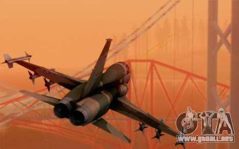 F-5 Tiger II para GTA San Andreas left