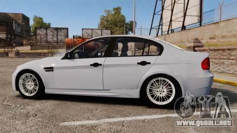 BMW M3 Unmarked Police [ELS] para GTA 4 left