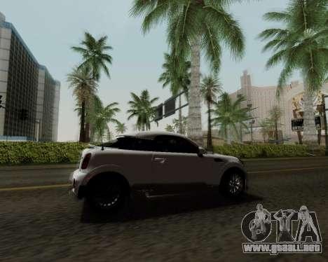 MINI Cooper S 2012 para vista lateral GTA San Andreas