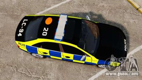 Audi S4 Police [ELS] para GTA 4 visión correcta