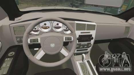 Dodge Charger SE 2006 para GTA 4 vista lateral