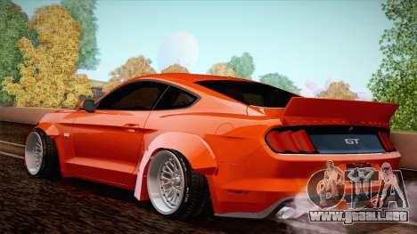 Ford Mustang Rocket Bunny 2015 para la visión correcta GTA San Andreas