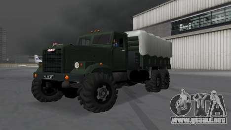 KrAZ 257 para GTA Vice City