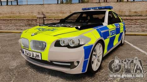 BMW 550i Metropolitan Police [ELS] para GTA 4