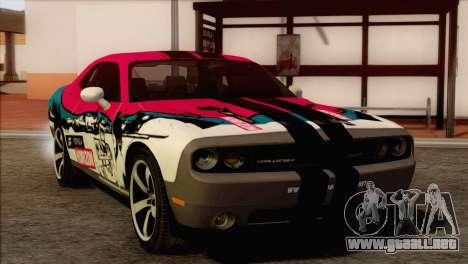 Dodge Challenger SRT8 2012 HEMI para visión interna GTA San Andreas