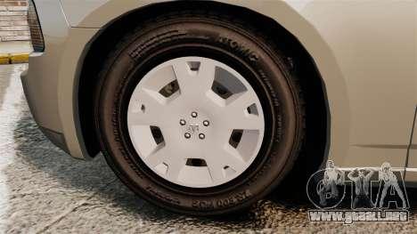 Dodge Charger SE 2006 para GTA 4 vista hacia atrás