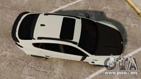 BMW X6 M HAMANN 2012 para GTA 4 visión correcta