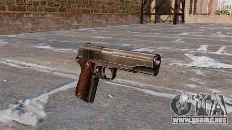 Pistola Colt M1911 para GTA 4