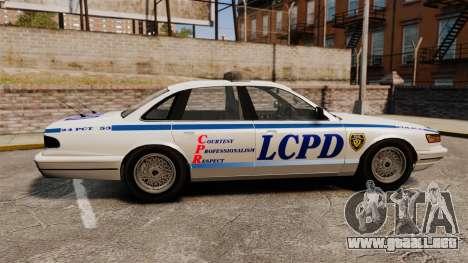Vapid Police Cruiser v2.0 para GTA 4 left