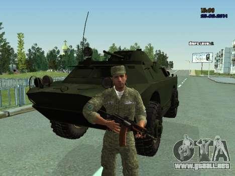 BRDM 2 para vista lateral GTA San Andreas