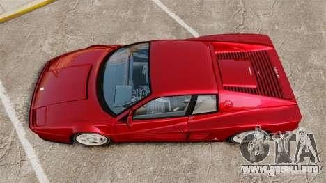 Ferrari Testarossa 1986 v1.1 para GTA 4 visión correcta