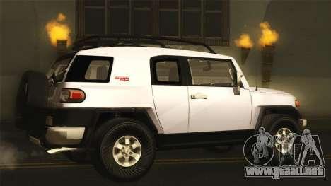 Toyota FJ Cruiser 2012 para GTA San Andreas left