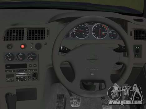 Nissan SKyline GT-R BNR33 para GTA Vice City vista posterior