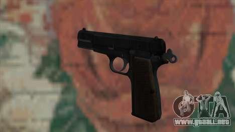 El arma de Fallout New Vegas para GTA San Andreas segunda pantalla