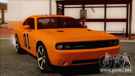 Dodge Challenger SRT8 2012 HEMI para vista inferior GTA San Andreas