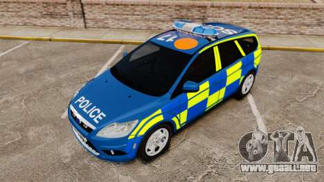 Ford Focus Estate 2009 Police England [ELS] para GTA 4 vista lateral