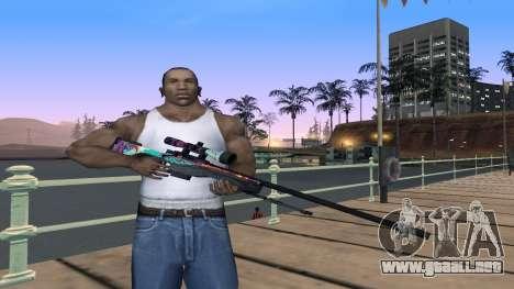 AWP from CS GO Gentleman para GTA San Andreas segunda pantalla