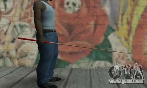 New Pool Cue para GTA San Andreas segunda pantalla