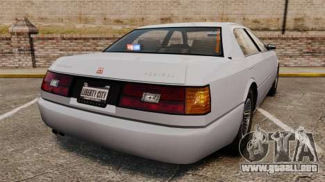 Admial Unmarked Police v1.4 [ELS] para GTA 4 Vista posterior izquierda