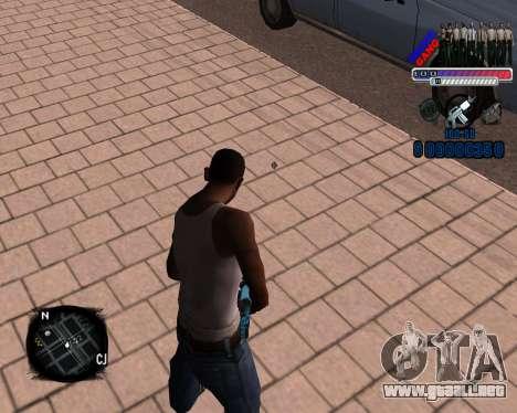 C-HUD Police Gang para GTA San Andreas segunda pantalla