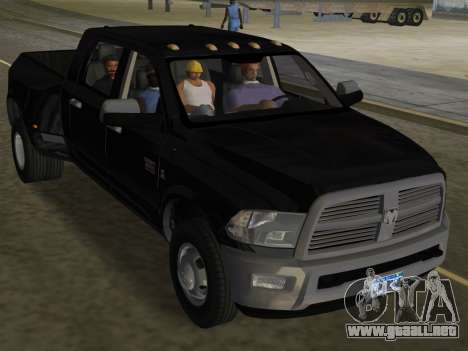 Dodge Ram 3500 Laramie 2012 para GTA Vice City vista superior