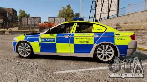 BMW 550i Metropolitan Police [ELS] para GTA 4 left