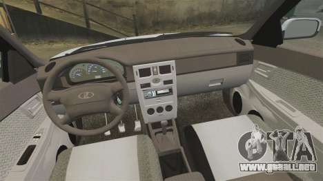 Vaz-2170 para GTA 4 vista superior