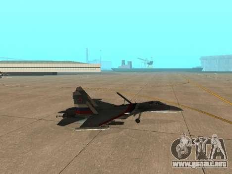 Su 33 para GTA San Andreas vista hacia atrás